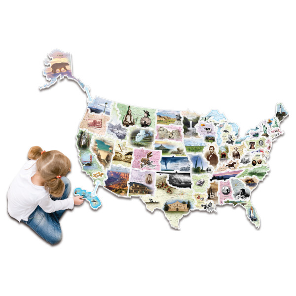 Puzzles Wonderfoam Early Learning Products: Wonderfoam Usa Map Puzzle At Infoasik.co